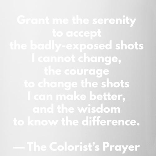 The Colorist's Prayer Mug (WHITE TEXT) - Coffee/Tea Mug