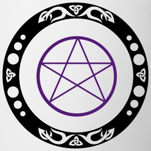 Big pentagram with trinity symbol. - Coffee/Tea Mug