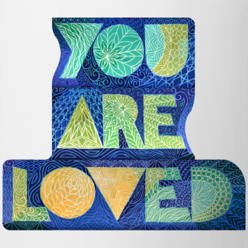 YOU ARE LOVED - Blue, Yellow, Green - Coffee/Tea Mug