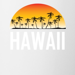 Hawaii Sunset And Palm Trees Beach Vacation - Coffee/Tea Mug
