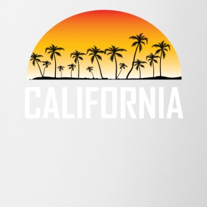 California Sunset And Palm Trees Beach Vacation - Coffee/Tea Mug