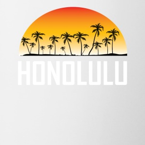 Honolulu Hawaii Sunset And Palm Trees Beach - Coffee/Tea Mug