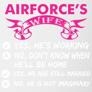 Airforces Wife Yes Hes Working - Coffee/Tea Mug