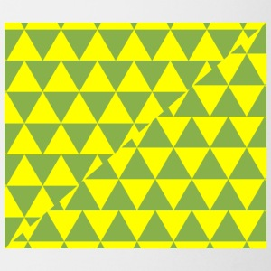 Green and Yellow Triangles Pattern - Coffee/Tea Mug