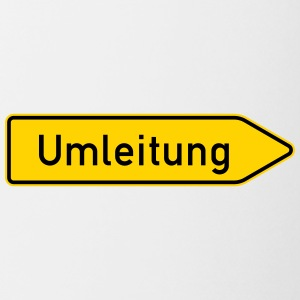 Umleitung Right - German Traffic Sign - Coffee/Tea Mug