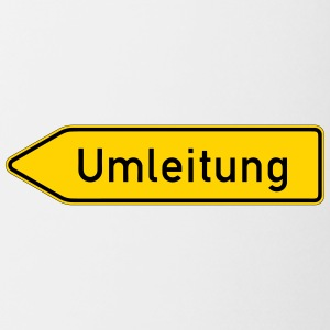 Umleitung Left - German Traffic Sign - Coffee/Tea Mug