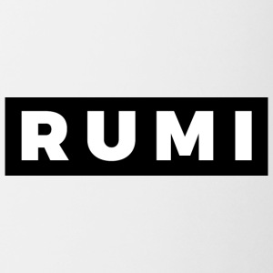 Rumi (White/Black Border) - Coffee/Tea Mug