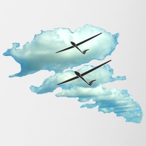 cloud glider pilot gliding sport - Coffee/Tea Mug