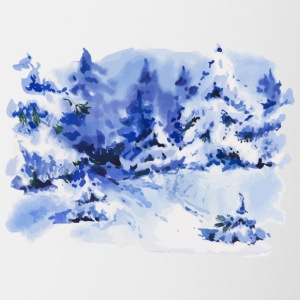 winter-landscape-painting-watercolor-drawing - Coffee/Tea Mug