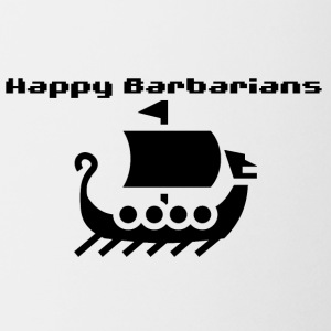 Happy Barbarians viking ship - Coffee/Tea Mug