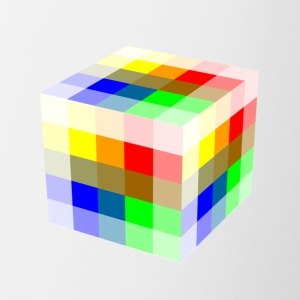 Multi Colored Cube - Coffee/Tea Mug
