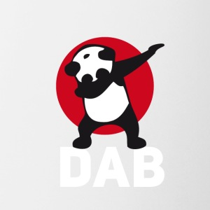 dab panda red DAB panda dabbing football touchdown - Coffee/Tea Mug