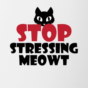 Stop Stressing Meowt Cute Cat Pun Tee Shirt - Coffee/Tea Mug