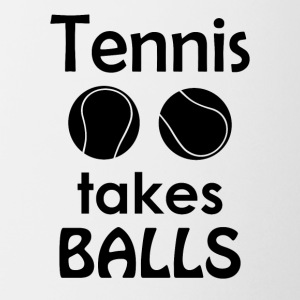 Tennis Takes Balls Funny Tennis Player Tee Shirt - Coffee/Tea Mug