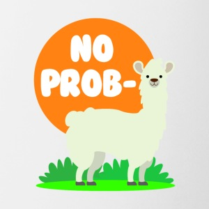 No Probllama - Clever No Problem Llama Design - Coffee/Tea Mug