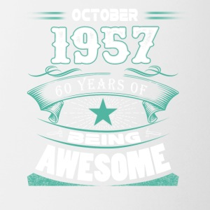October 1957 - 60 years of being awesome - Coffee/Tea Mug