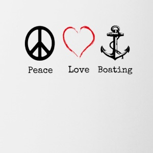 Peace Love and Boating, Funny Boating Gift - Coffee/Tea Mug