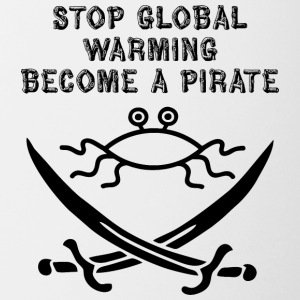 stop global warming and become a pirate FSM - Coffee/Tea Mug