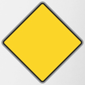 Road_Sign_yellow - Coffee/Tea Mug