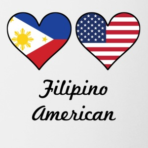 Filipino American Flag Hearts - Coffee/Tea Mug