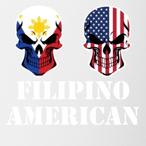 Filipino American Flag Skulls - Coffee/Tea Mug