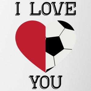 i love you soccer - Coffee/Tea Mug