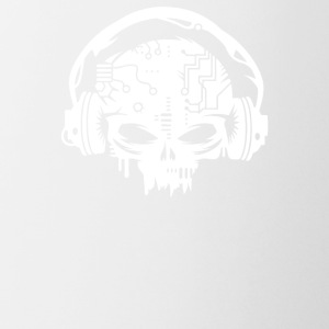 Cyber Skull With Headphones - Coffee/Tea Mug