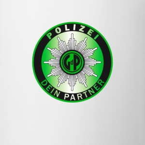 polizei green Police Slogan german Partner fun hum - Coffee/Tea Mug