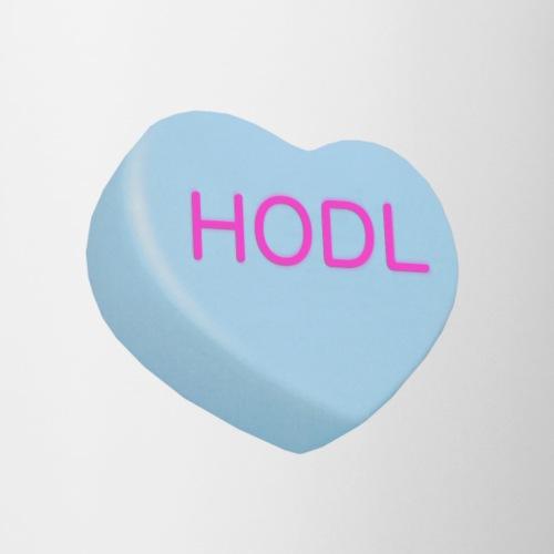 HODL - Hold on For Dear Life - Candy Heart - blue - Coffee/Tea Mug