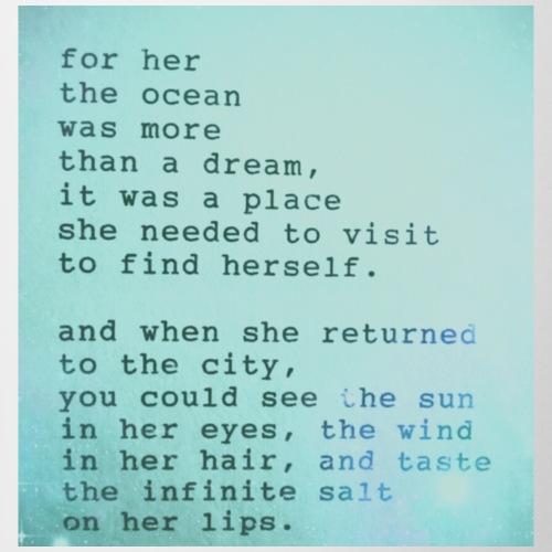 Ocean quote - Coffee/Tea Mug