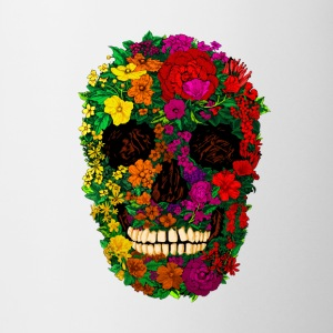 Rainbow Flowers Skull - Coffee/Tea Mug