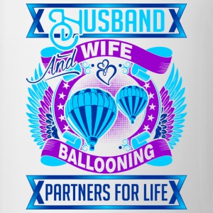 Husband And Wife Ballooning Partners For Life - Coffee/Tea Mug