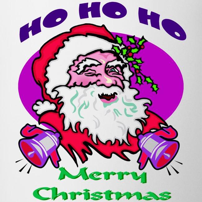 Ho Ho Ho Merry Christmas.Ho Ho Ho Santa Coffee Tea Mug