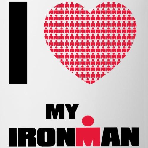 i heart my ironman redblack - Coffee/Tea Mug