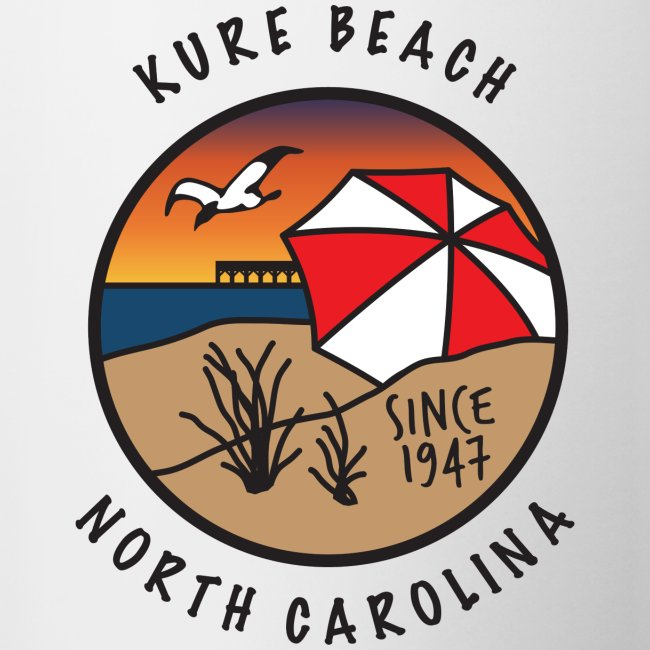 Kure Beach Sunrise-Black Lettering-Front and Back