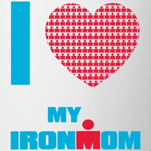i heart my ironmom redblue - Coffee/Tea Mug