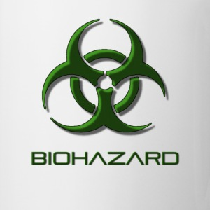 Green biohazard warning, toxic waste danger symbol - Coffee/Tea Mug