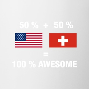 Half Swiss Half American 100% Switzerland Flag - Coffee/Tea Mug