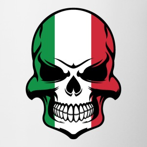 Italian Flag Skull Cool Italy Skull - Coffee/Tea Mug