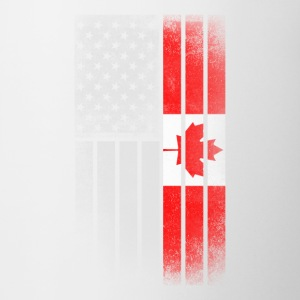 Canadian American Flag - Half Canadian Half Americ - Coffee/Tea Mug