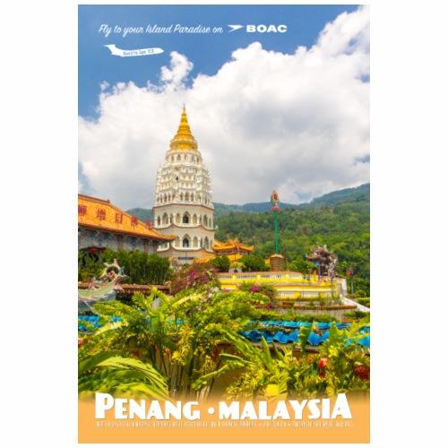 Vintage Penang Travel Poster - Coffee/Tea Mug