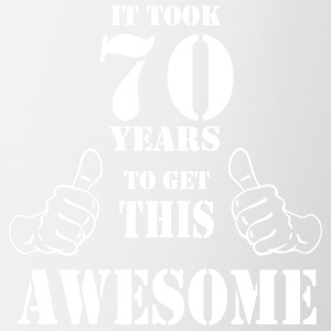 70th Birthday Get Awesome T Shirt Made in 1947 - Coffee/Tea Mug