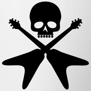 skull with crossed guitars - Coffee/Tea Mug