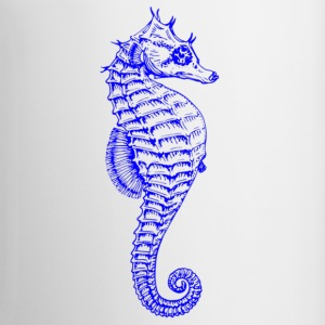 Bright Vibrant Blue Seahorse - Coffee/Tea Mug