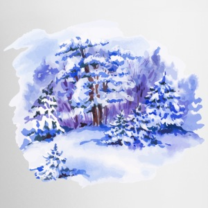 winter-landscape-drawing-painting-watercolor - Coffee/Tea Mug