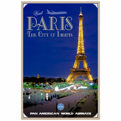 Vintage Paris Travel Poster - Coffee/Tea Mug