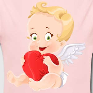amourchik-smile-cupid-wings-heart-ValentinesDay - Long Sleeve Baby Bodysuit