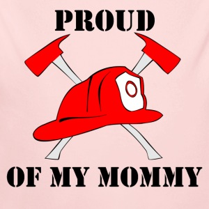 Proud Of My Mommy Firefighter - Long Sleeve Baby Bodysuit