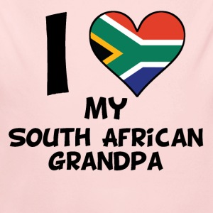 I Heart My South African Grandpa - Long Sleeve Baby Bodysuit
