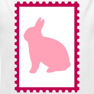 stamp with bunny - Long Sleeve Baby Bodysuit